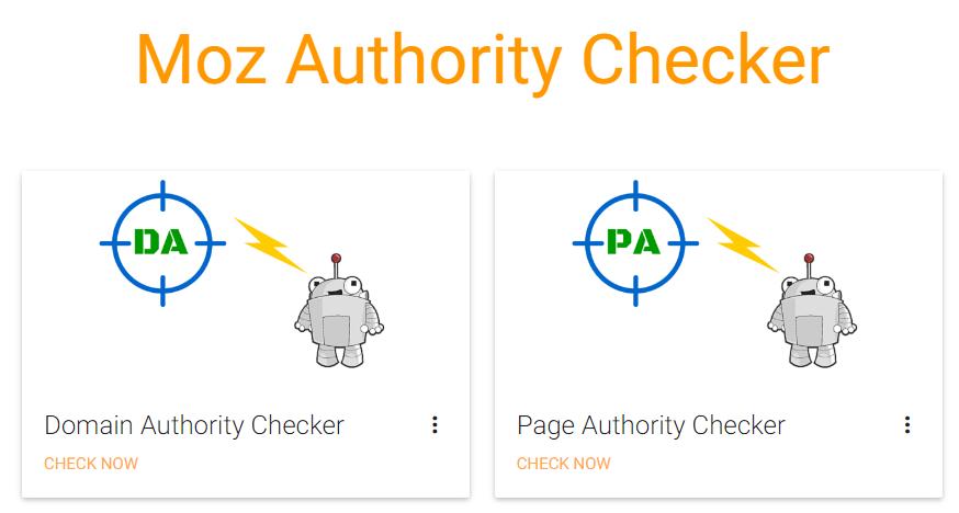Moz Authority Checker