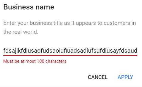 gmb name