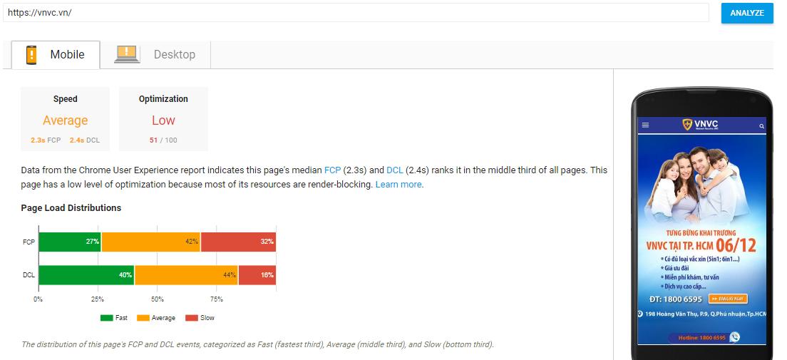 Google PageSpeed Insights cải tiến