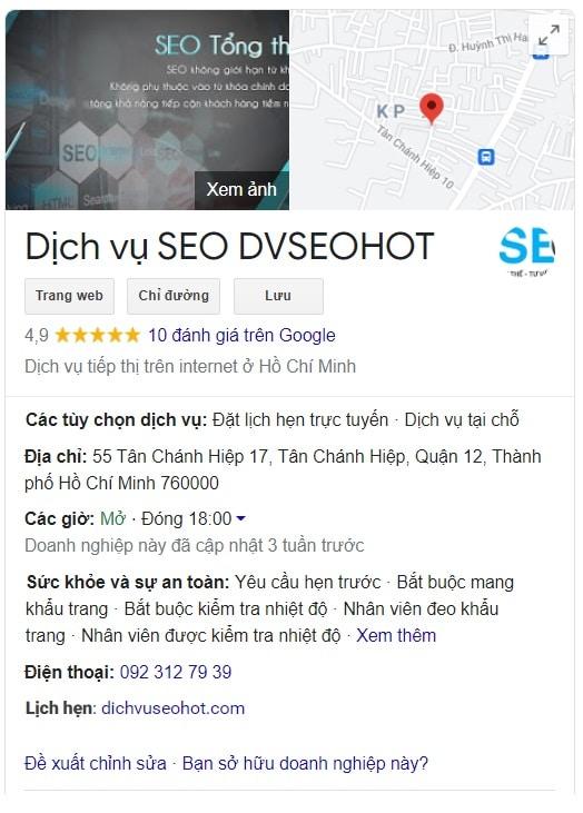 Google My Business dvseohot