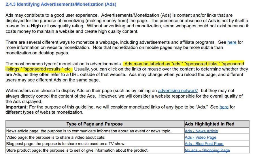 advertisements and monetization ads